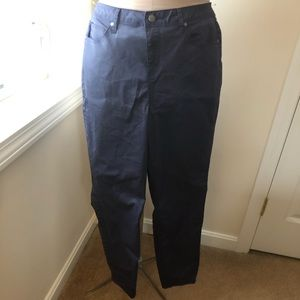 Just Fab navy coated jeans. Size 16w